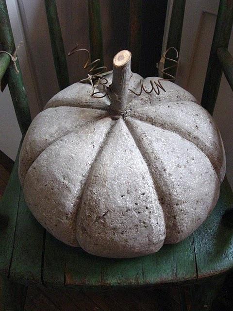 cement pumpkin