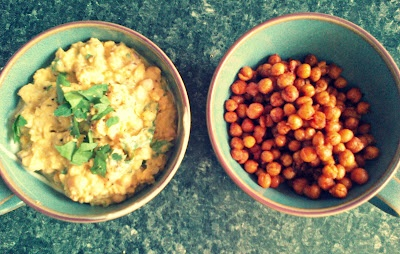 chick pea dip and roasted chick peas | vegan food (made by me) | Pint ...