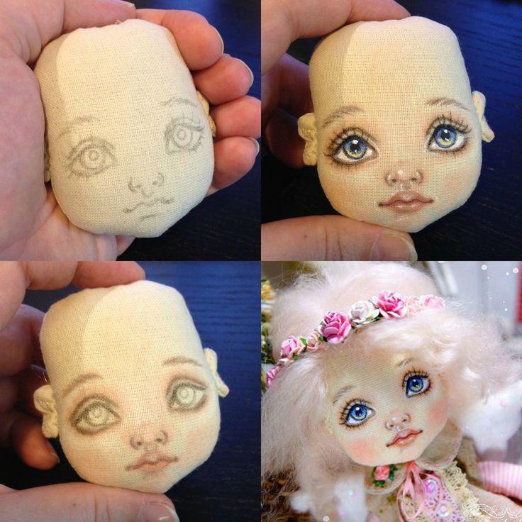 Куклы своими руками нарисовать лицо 29