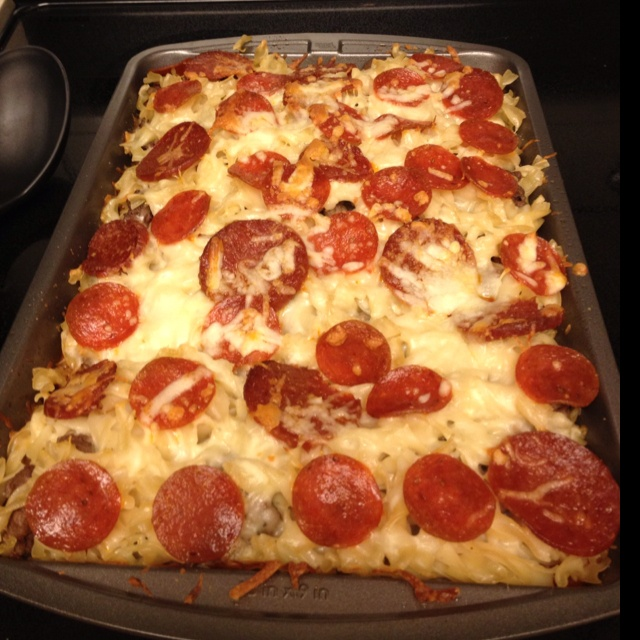 Pizza casserole for dinner :) I did good today :)