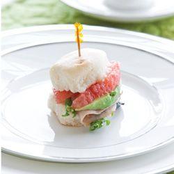... Avocado, and Ham Tea Sandwich...substitue grapefruit with blood orange