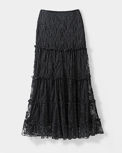 Long Stretch Lace Skirt. Newport News has some really cute.feminine ...
