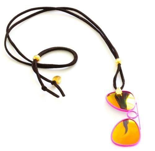 eyeglass lens necklace reuse recycle eyeglasses
