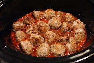Crock Pot Herbed Turkey Meatballs | marg recipes | Pinterest