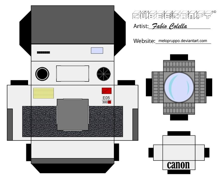 Camera Template Printable Pinterest