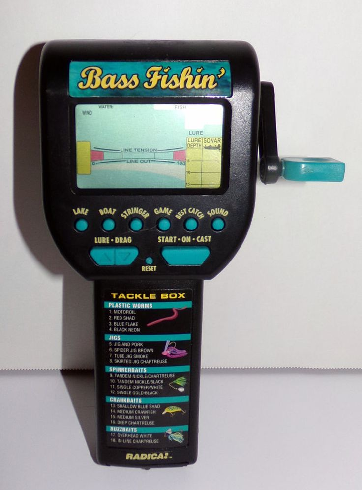 radica bass fishin 39 electronic hand held fishing game