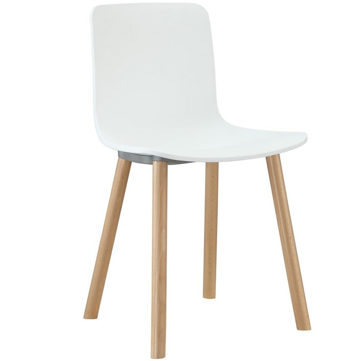 Sprung White Plastic Modern Dining Chair