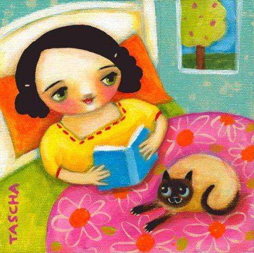 Lectura relajante (ilustración de Tascha Parkinson)