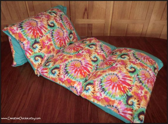 Pillow Bed Teen Girl Pillow Bed TieDye Pillow by CreativeChickie