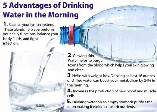 Advantages of drinking water in the morning health fitness trusper