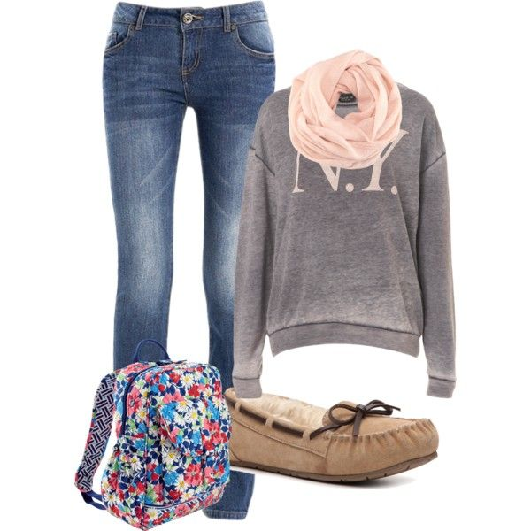 Cute Comfy School Outfit by caitlinmerris on