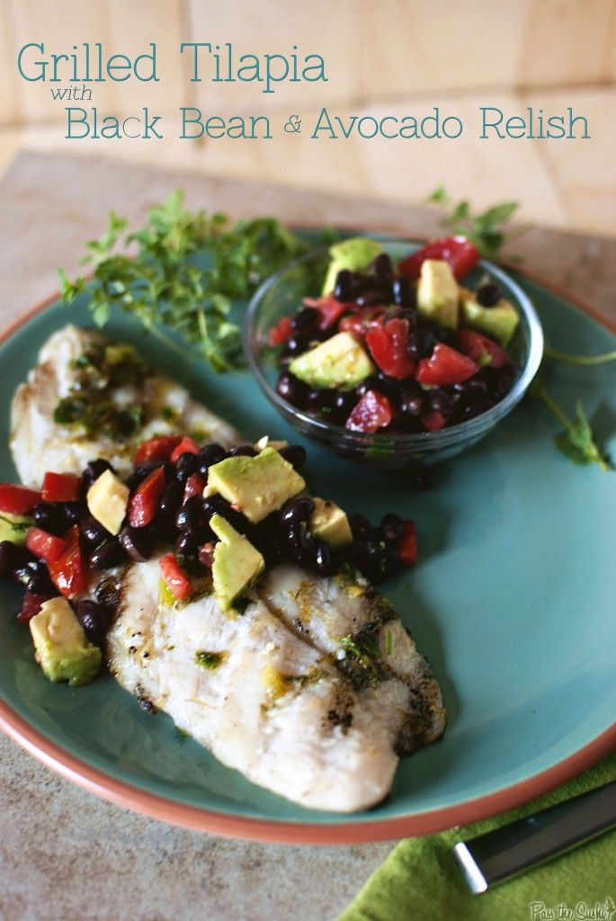 Tillapia with Black Bean and Avocado Relish from @Pass the Sushi