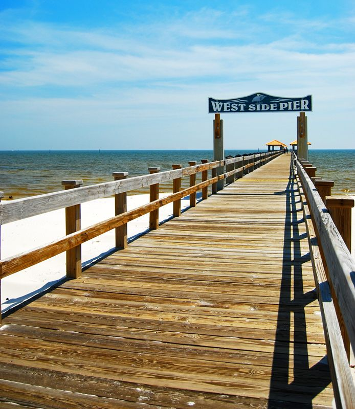 West Side Pier on Gulf of Mexico, Gulfport, Mississippi