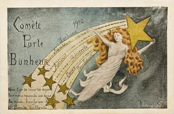 Halley's Comet Postcards, 1910