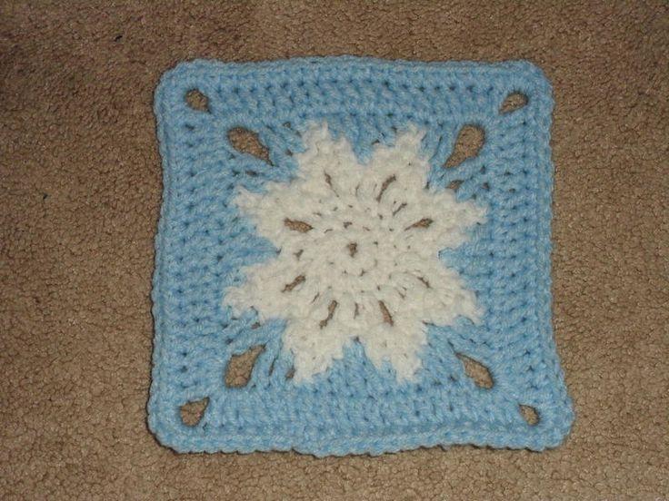 Free Crochet Pattern For Snowflake Granny Square : 6
