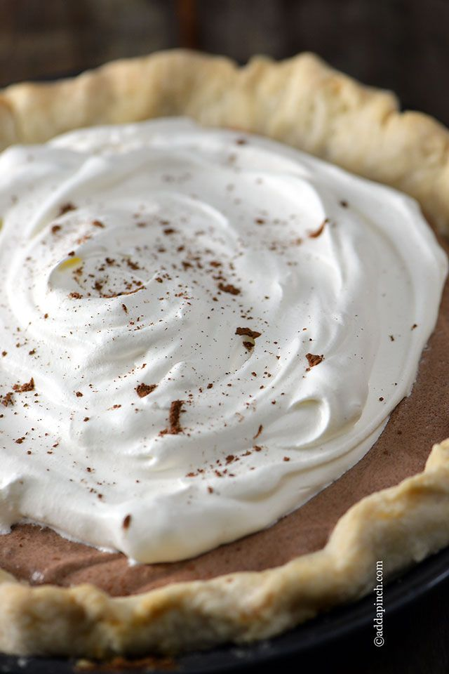 French Silk Pie | ©addapinch.com