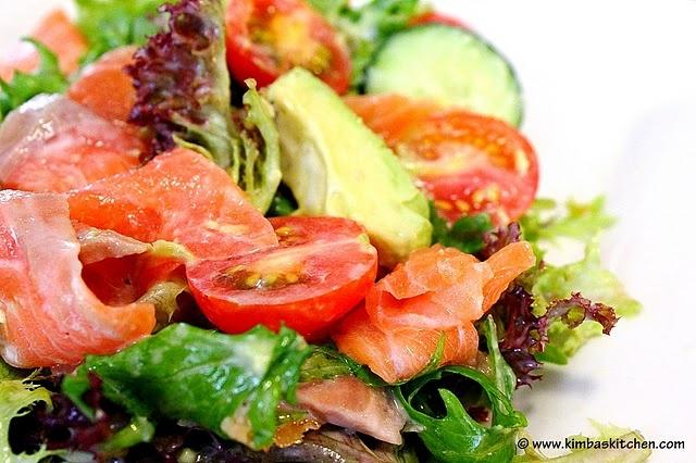 smoked salmon salad   main dish   Pinterest