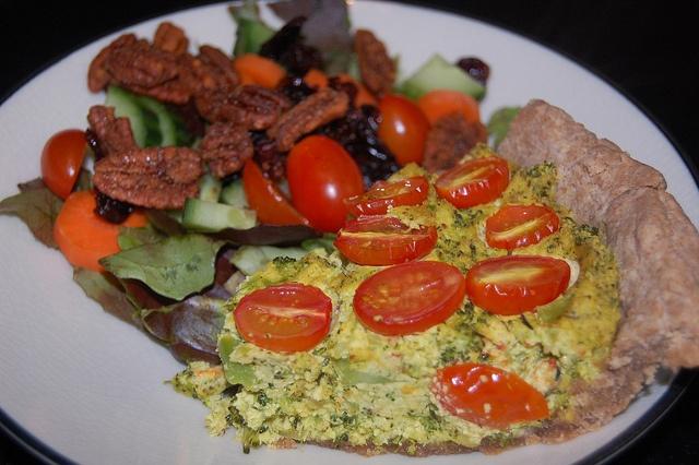 Vegan Broccoli Quiche | Vegan Recipes - Main Meals | Pinterest