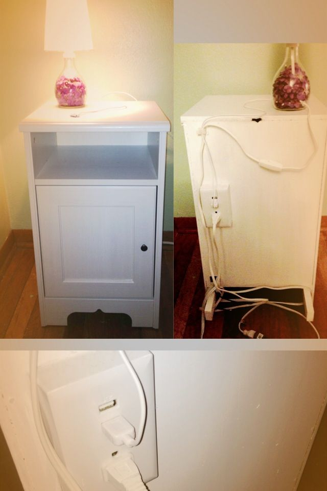 Wickelkommode Mit Badewanne Ikea ~ Aspelund+Nightstand IKEA nightstand with USB outlet in back