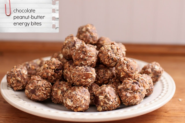 Chocolate Peanut Butter Energy Bites | Breakfast/Brunch | Pinterest