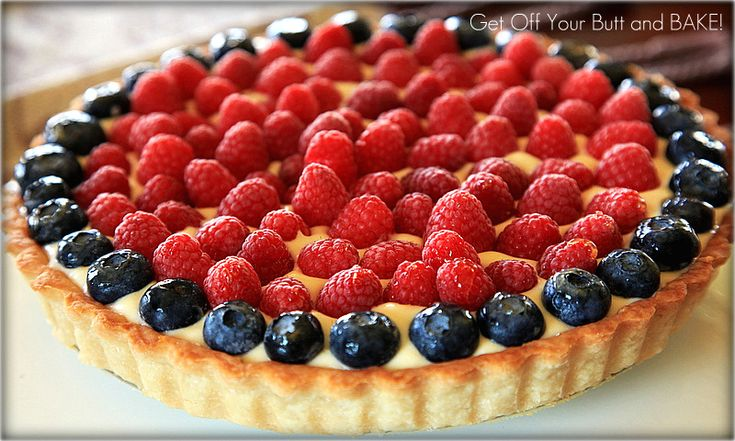 RASPBERRY BLUEBERRY CREAM TART | desserts | Pinterest