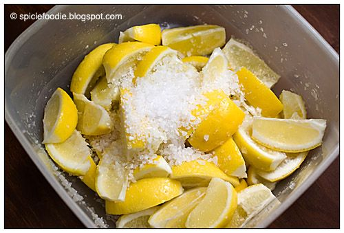 lemons; lemon wedges; Meyer Lemon; wedge; Sea Salt; rock salt; coarse ...