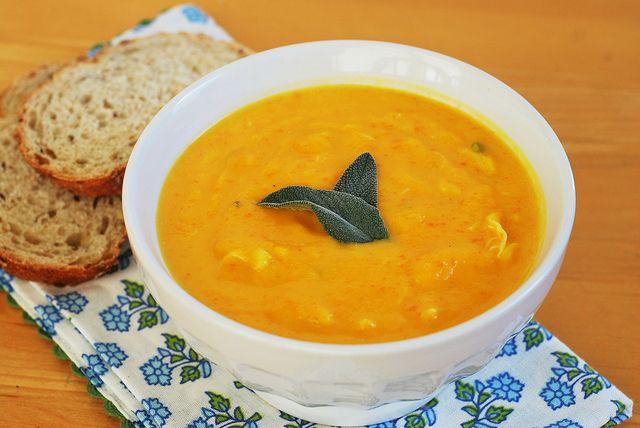Butternut Squash & Crab Bisque | food | Pinterest