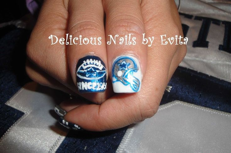 Nails in dallas beautify themselves with sweet nails dallas cowboys nails dallas cowboys nail art pinterest prinsesfo Gallery