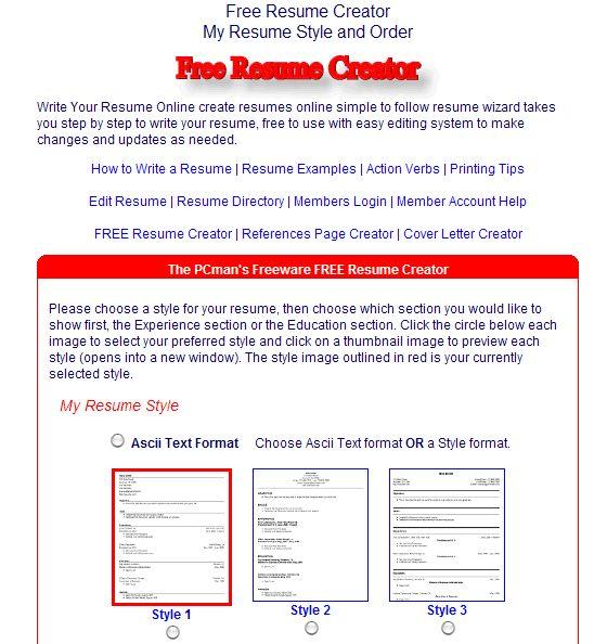 Build A Resume Free Online Resume Badak