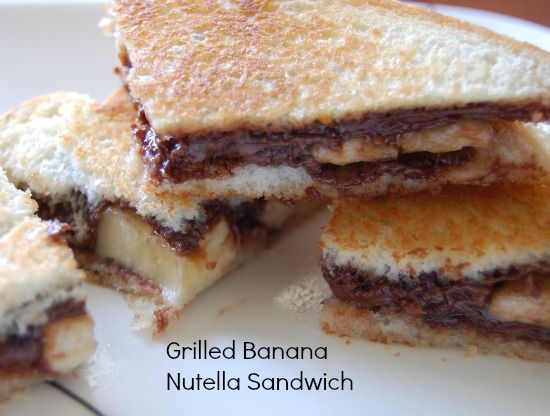 Grilled Banana Nutella Sandwich | Recipes & Foods To Try | Pinterest