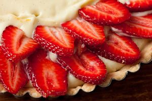 Strawberry Tart with Citrus Pastry Cream | Recipe