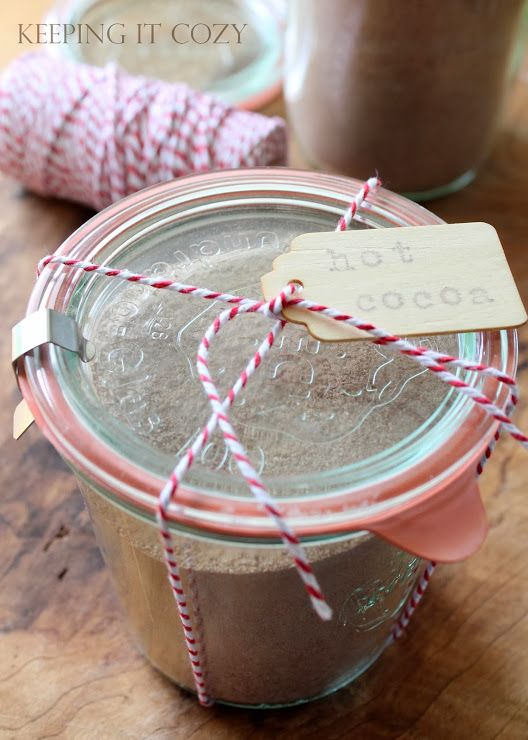 Hot Cocoa mix in a jar... | Merry Christmas! | Pinterest