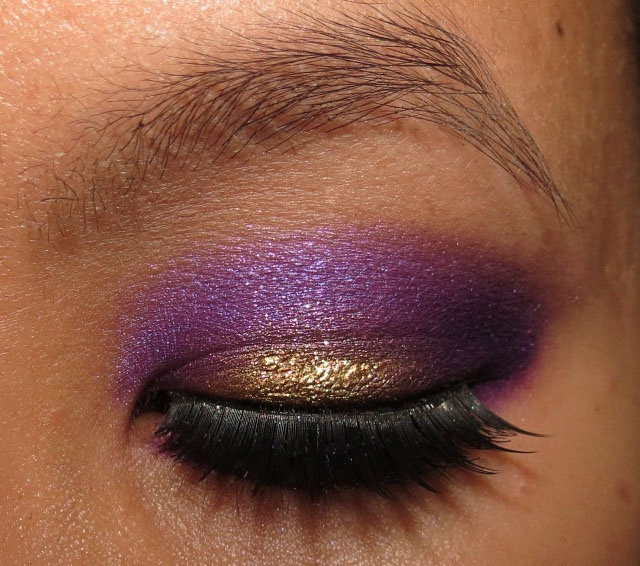 Sugarpill Purple and Gold EOTD