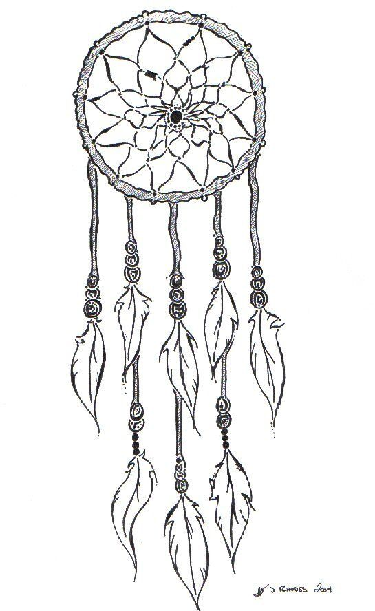 Simple dream catcher coloring pages coloring pages for Dreamcatcher tattoo template