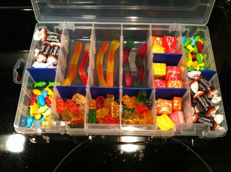 Tackle-box alternative to an Easter basket for the adventurous boy in your life. Thanks for the idea @Nyla McCoy and #nikki
