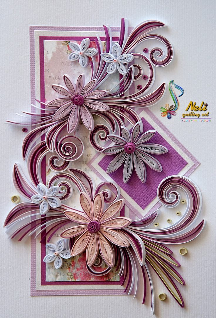 Квиллинг открытки мастеров квиллинга