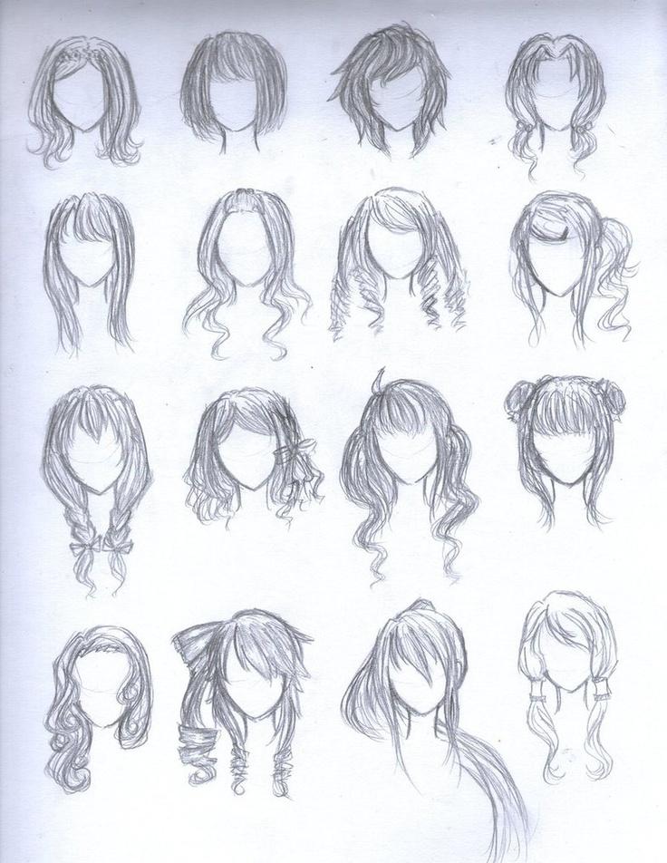 chibi hairstyles art pinterest
