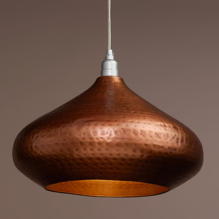 Hammered Copper Hanging Pendant Lamp | World Market