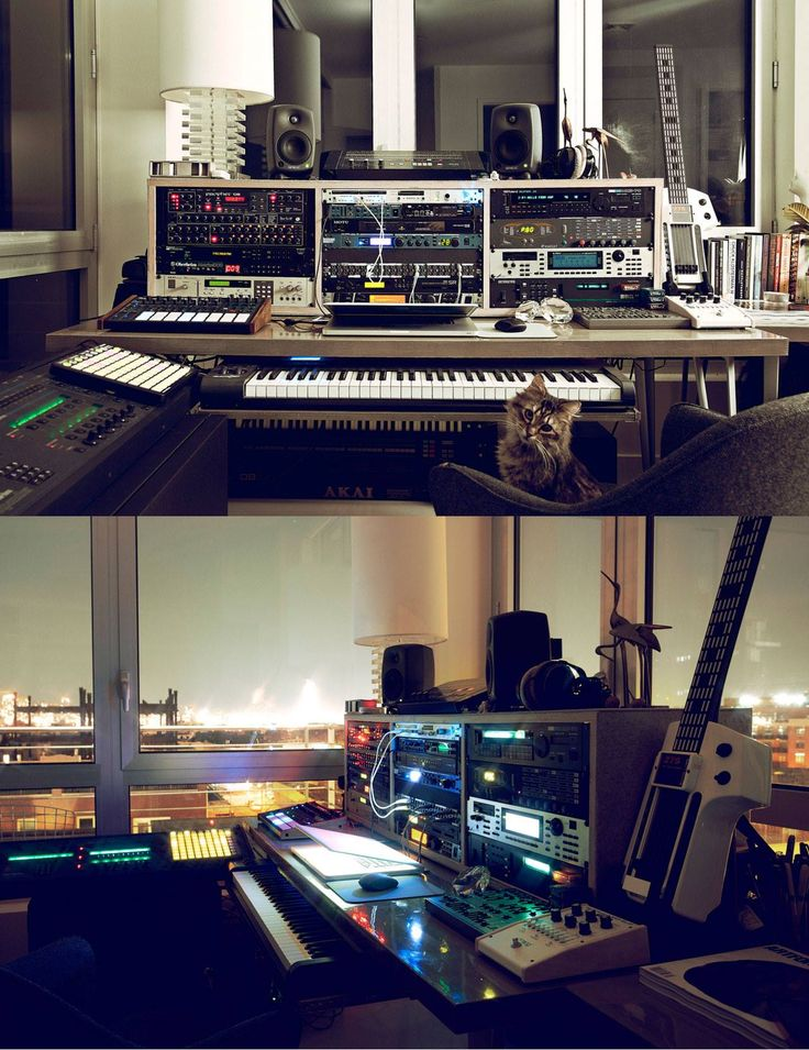 Cool apartment studio music studio pinterest for Small room 7 1 setup