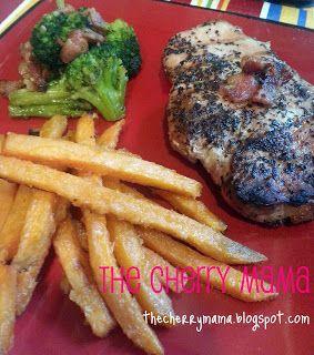 ... cherry mama basil and garlic pork chops amp roasted broccoli amp bacon