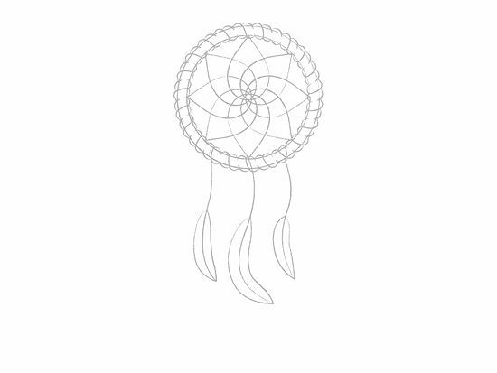 How to draw a dreamcatcher for Dream catcher drawing easy