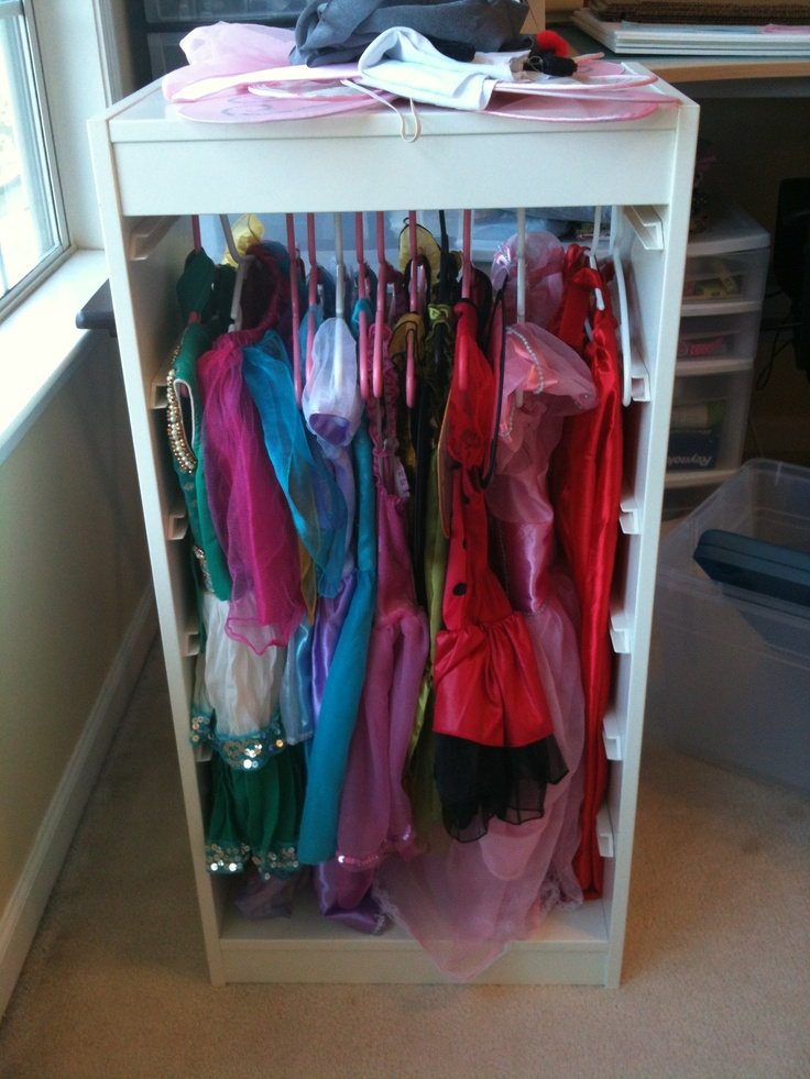 Kitchen Island With Drawers Ikea ~ Trofast frame + tension bar + dress up clothes= Princess wardrobe!!