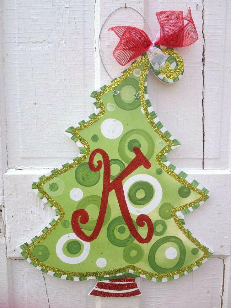 Christmas Tree Door Hanger Holidays Pinterest