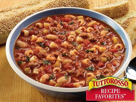 Hearty Pasta E Fagioli Soup | Food | Pinterest