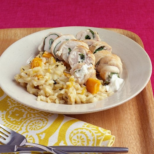 Goat Cheese And Arugula Over Penne Recipe — Dishmaps