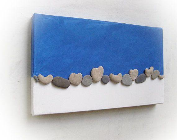 Heart Shaped Beach Stone DIY Art Idea.