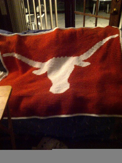 Crochet Pattern For Texas Longhorn Afghan : Texas Longhorns Afghan Food (: Pinterest