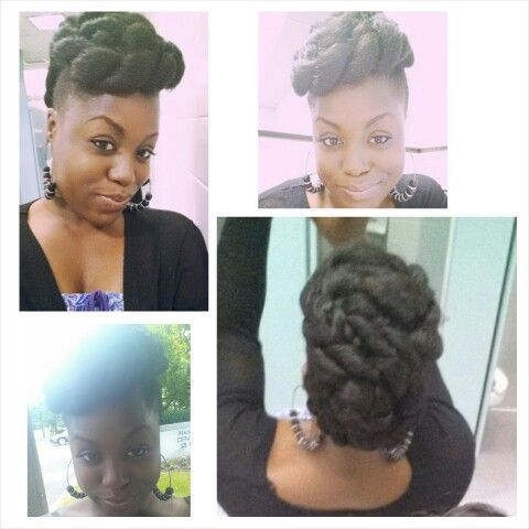 double #rope #updo #twist #bun perfect summer #hairstyle