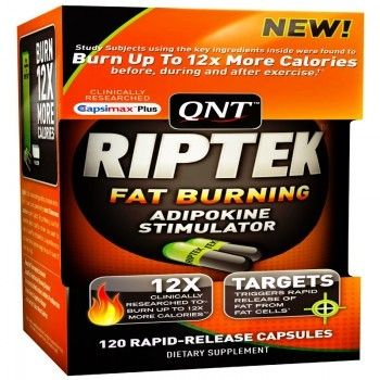 QNT International RIPTEK V2 - POWERFUL FAT BURNER ✪Targets Triggers Rapid Release of Fat from Fat cells* ✪ Powerful Thermogenic Activator* ✪ Amplifies Positive Fat Burning Signals* ✪Promotes Fat Mobilization http://www.dietkart.com/qnt/qnt-riptek-fat-burner-120capsules