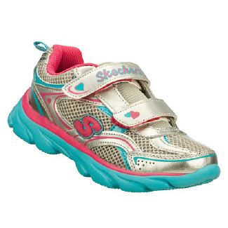 Skechers Double Down Inf/Tod Shoes (Silver/Multi) - Kids' Shoes - 7.0